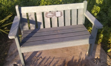 A bench dedicated to a dead grandparent