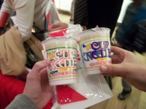 Custom cup noodles at the cup noodle museum